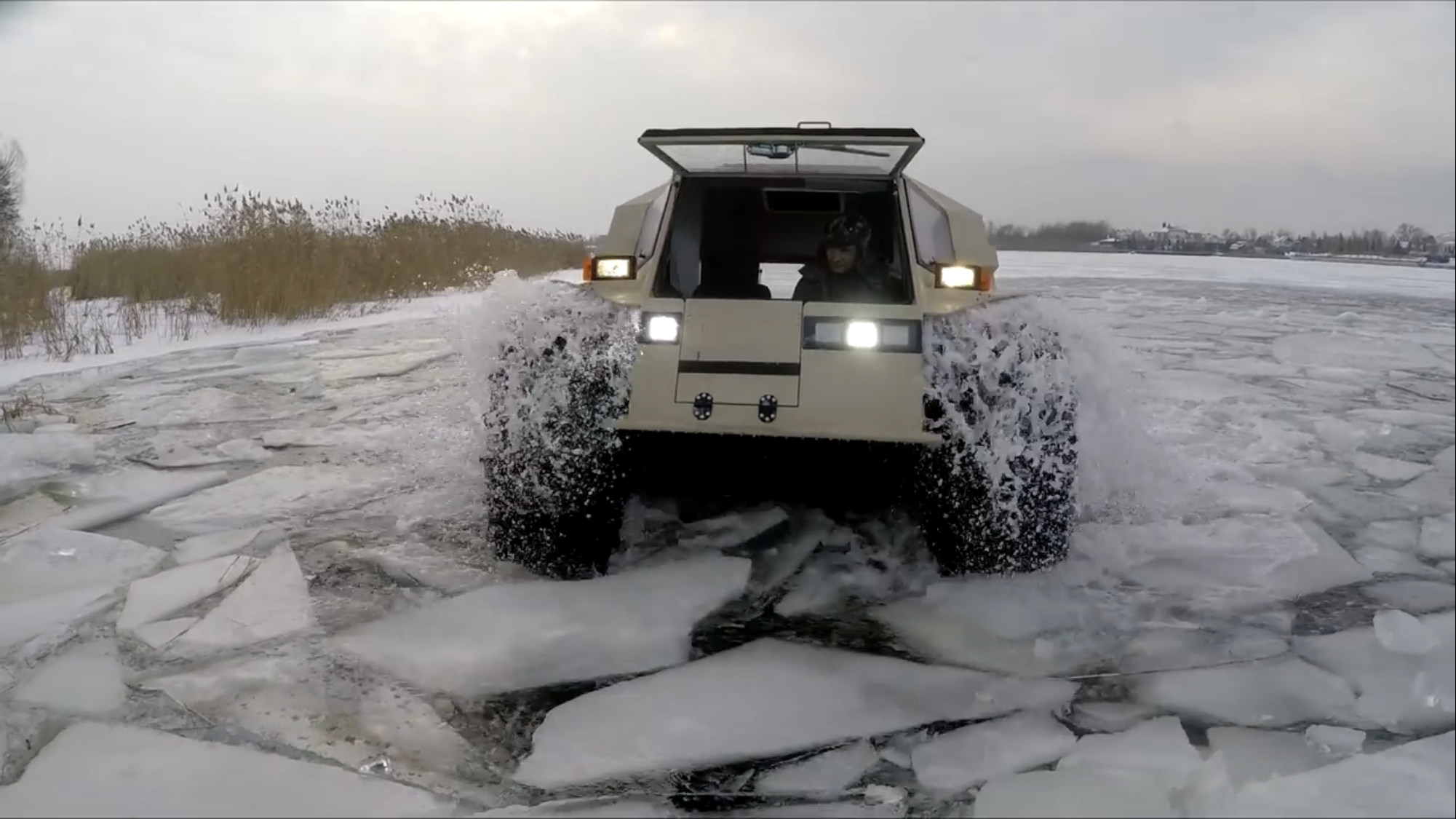 Sherp ATV frozen lake