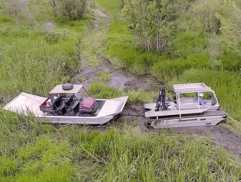 Marsh Master with ATV Sled