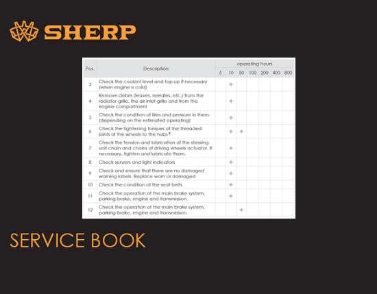 Sherp Pro Service Book